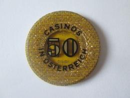50 Schilling Austrian Collector Token Casino/Austria Jeton De Casino 50 Schilling.Diameter/diametre=35 Mm - Casino