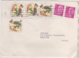 LAS  PALMAS ESPAGNE 1971 - LETTRE POUR LA FRANCE, 5OEME ANNIVERSAIRE DE LA LEGION ESPAGNOLE ( 4 ) FRANCO - 1931-Aujourd'hui: II. République - ....Juan Carlos I