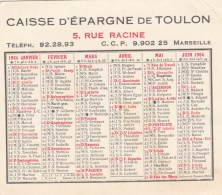 CALENDRIER  CAISSE D EPARGNE DE TOULON 1964 - Calendriers