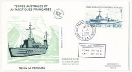 TAAF - Enveloppe FDC - Navire La Pérouse - Port Aux Français Kerguelen - 1.1.2000 - FDC