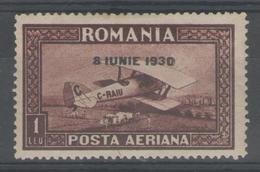 ROUMANIE:  PA.n°4a * (filig.horizontal)      - Cote 85€ - - Poste Aérienne
