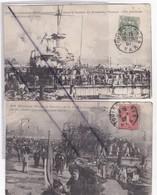 Le Cuirassé IENA Explosant Dans Le Bassin De Missiessy Toulon(83) 200 Victimes .Lot De 5 Cartes De 1907) - Warships