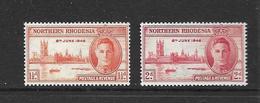 RHODESIE DU NORD 1946 VICTOIRE  YVERT N°38/39  NEUF MNH** - Northern Rhodesia (...-1963)
