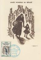 Carte Maximum  1er  Jour   FRANCE   Année  Mondiale  Du  Réfugié   1960 - Cartes-Maximum