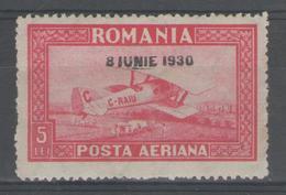 ROUMANIE:  PA.n°6a * (filig.horizontal)      - Cote 85€ - - Poste Aérienne