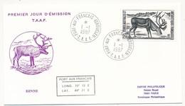 TAAF - Enveloppe FDC - Renne - Port Aux Français Kerguelen - 9.10.1987 - FDC
