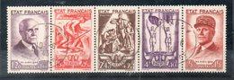 N°580A Bande Complete Obliteree Du 10 Juin 1943 (obliteration D Epoque Rare) - Usados