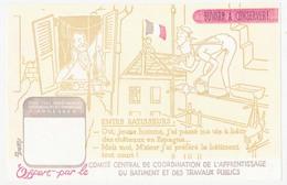 Buvard 20.3x13.2 Comité Central De Coordination De L'Apprentissage Du Bâtiment Et Des Travaux Publics  Maçon échafaudage - C