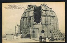 CPA OBSERVATOIRE  De PARIS - Terrasse Supérieure -Coupole De L'Equatorial De La Tour De -  Beau Plan - Paypal Sans Frais - Astronomie