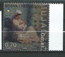 Bosnia And Herzegovina - 2003 The 100th Anniversary Of The Birth Of Bosnian Academic Painter Omer Mujadzic. MNH - Bosnia And Herzegovina