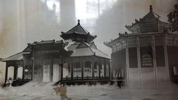 PLAQUE DE VERRE PARIS EXPOSITION COLONIALE 1931 PAVILLON INDOCHINE ET COCHINCHINE FORMAT  23.50 X 18 CM - Glass Slides