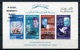 1966 - QATAR- O.N.U. BLACK OVERPRINT - 1 S.S..  - M.N.H. LUXE !!- - Qatar