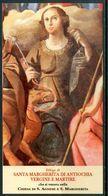 SANTINO - Santa  Margherita Di Antiochia Vergine E Martire - Santino Con Preghiera. - Images Religieuses