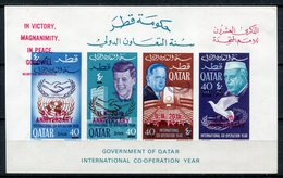 1966 - QATAR- O.N.U. RED OVERPRINT - 1 S.S..  - M.N.H. LUXE !!- - Qatar