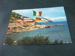 NAVE SHIP YACHT LUNGOMARE PALIO MARINARO PORTO S. STEFANO BANDIERE - Chiatte, Barconi