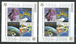 Croatian Post Mostar/Bosnia And Herzegovina/ 2005 The 50th Anniversary Of The First EUROPA Stamps, 1956-2006.2 S/S.MNH - Bosnie-Herzegovine