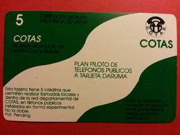 BOLIVIA COTAS TR1 FLAG SANTA CRUZ De La Sierra Daruma URMET FIELD TRIAL TEST BOLIVIE (CD0718) - Bolivia