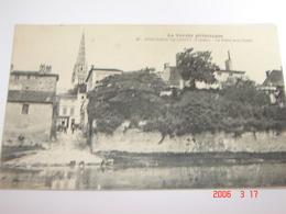 C.P.A.- Fontenay Le Comte (85) - La Porte Aux Canes - Pharmacie Centrale - Lavandière - 1910 - SUP (AZ 45) - Fontenay Le Comte