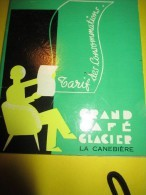 Grand Café Glacier/LA CANEBIERE/Tarif Des Consommations /Courvoisier/Ricard/Air France/Marseille/1955    MENU30 - Menus