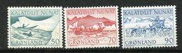 Groenland, Yvert 66/68, Scott 78,79&81, MNH - Groenland