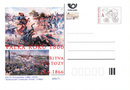 Rep. Ceca / Cart. Postali (Pre2016/24) Guerra Del 1866 (1) Battaglia Di Custoza - Pittore: Fritz Neumann (1881-1919) - Entiers Postaux