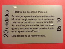 BOLIVIA ICATEL 20u White Reverse  Daruma COTAS URMET FIELD TRIAL TEST Bolivie (CD0718) - Bolivie
