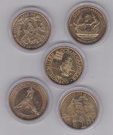 5 Médailles Monaco :notre Dame De La Misericorde- Cathédrale De Monaco- Marie La Glorieuse 2012- Océamania 2011- Bateau - Monnaie De Paris