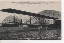 Cpa.Aviation.Aérocar Farman Le Goliath F60-premier Service Public Paris-Bruxelles - 1919-1938