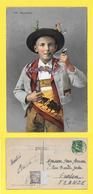 CPA 1912  APPENZELLER Enfant Costume Typique Local WEGGIS ( Pipe Suisse ) T Taxée  10 C à Perçevoir - Suisse
