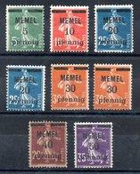 Memel Y&T 18* - 23* - Memel (1920-1924)