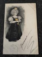 Beautifull Girl - Illustrator Unknown // With Color Highlight // Used 1901 - Illustratoren & Fotografen