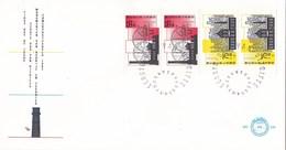 Nederland - FDC - Zomerzegels, Industrieel Erfgoed - Stoomgemaal, Nijkerk/geelgieterij, Joure - NVPH E244a - Monumenten
