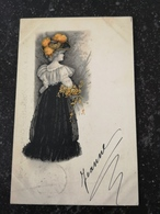 Beautifull Girl - Illustrator Unknown // With Color Highlight No 2 // Used 1901 - Illustratoren & Fotografen