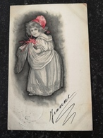 Beautifull Girl - Illustrator Unknown // With Color Highlight No 3 // Used 1901 - Illustratoren & Fotografen
