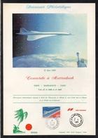 CONCORDE - AVIATION / 13-5-1985 FEUILLET SOUVENIR DU VOL PARIS - MARRAKECH - PARIS (ref 7842) - Concorde