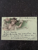 Beautifull Girl - Woman  Illustrator Unknown // No 1  // Used 1899 !! - Illustratoren & Fotografen
