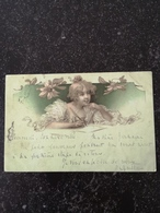 Beautifull Girl - Woman  Illustrator Unknown // No 2 - Writing A Letter  // Used 1899 !! - Illustratoren & Fotografen
