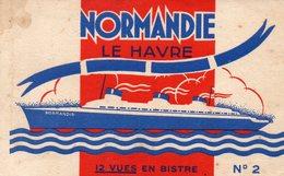 76-CARNET INCOMPLET DE 9 CPA LE HAVRE - PAQUEBOT LE NORMANDIE - Port