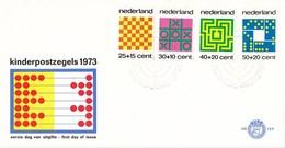Nederland - FDC - Kinderzegels, Tafelspelen - Schaken/chess/Schach/jeu D'echecs - NVPH E129 - Schaken