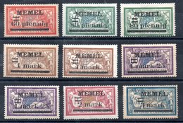 Memel Y&T 24*, 25* (2x), 26* (2x), 27* (2x), 29*, 30* - Memel (1920-1924)