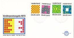 Nederland - FDC - Kinderzegels, Tafelspelen - Boter, Kaas En Eieren/noughts And Crosses/Butter, Käse Und Eier -NVPH E129 - Schaken