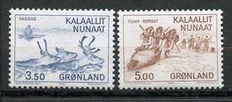 Groenland, Yvert 119&120, Scott 146&147, MNH - Neufs