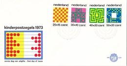 Nederland - FDC - Kinderzegels, Tafelspelen - Doolhof/maze/Labyrinth/labyrinthe - NVPH E129 - Giochi