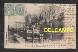 DD / 70 HAUTE SAÔNE / PORT-SUR-SAÔNE / LE PORT - LA PENICHE MASCARET DE LA Cie GENERALE DE NAVIGATION LYON / 1904 - Francia