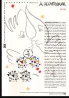 2015, DOCUMENT OFFICIEL DE LA POSTE: Coeur 2015, Jean Charles De Castelbajac - Documents De La Poste
