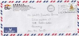 HONG KONG 2001   LETTRE POUR BANDE-BADEN - Covers & Documents