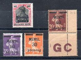 Memel Y&T 8*, 21*, 22** GC, 23* - Memel (1920-1924)
