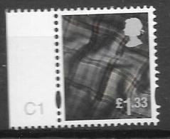 Scotland TARTAN  - 2012   £1,33  - Cylinder Single  C1 Only - Regionalmarken