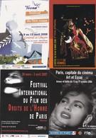 Lot 40  CPM 10X15  (Cart'com) FESTIVALS DE CINEMA - Cinema