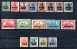 Memel Y&T 1* - 17* - Memel (1920-1924)